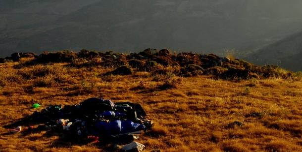 Durmiendo en la cima Cabrilla