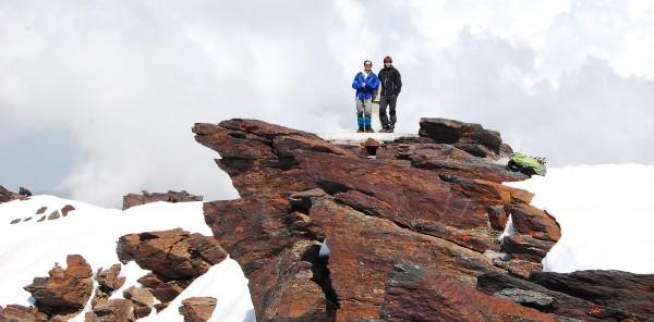 Juan y Héctor en el pico Mulhacén