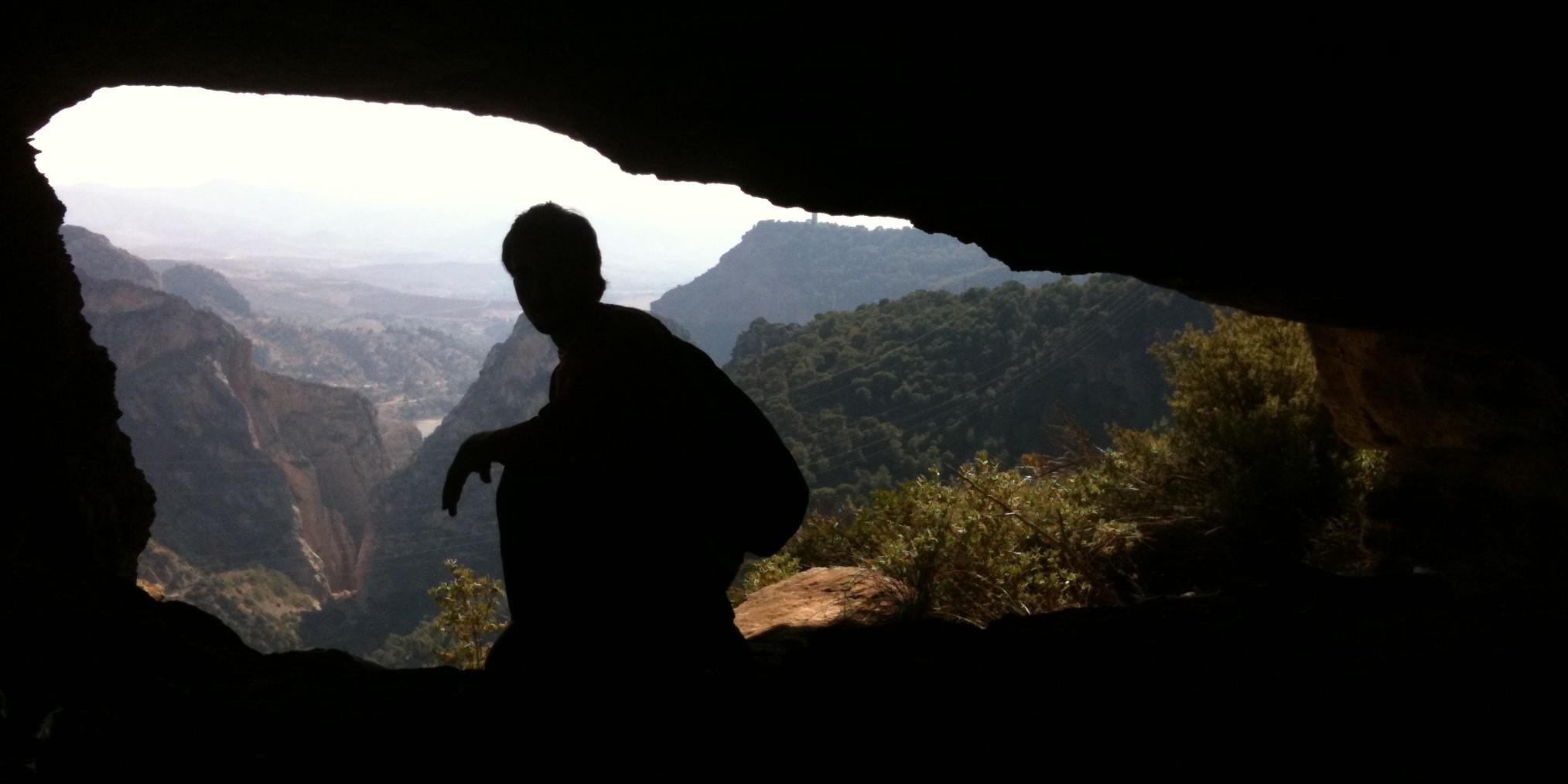 Una de las cavidades del pico del Convento