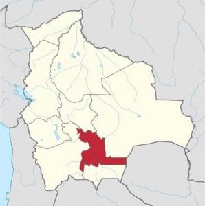 Localización de Chuquisaca en Bolivia