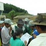Llegada a la comunidad Molani, y comienzo de la organización de la jornada
