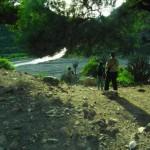 Inicio de la rutita por el río Grande, con mis biólogas y amigas